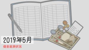 2019年5月の借金返済報告【-58,104円】
