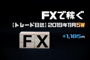 +1,185円★FX資金を1万円に減額…来月から新企画!【トレード日誌】